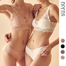 Norns Rimless French European and American Sexy Gathered Bra Womens Underwear a Hair Lace Bra Set