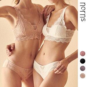 Image 1 - Norns sem aro francês europeu e americano sexy reunidos sutiã roupa interior feminina um cabelo conjunto de sutiã de renda
