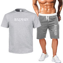 New 2019 Mens Sets T Shirts+shorts Men Brand clothing Two piece suit tracksuit Fashion Casual Tshirts