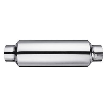"""Universal Stainless Steel Car Resonator Exhaust Muffler 2.5"""" inlet To 2.5"""" outlet Exhaust Tip Pipe Tube"""