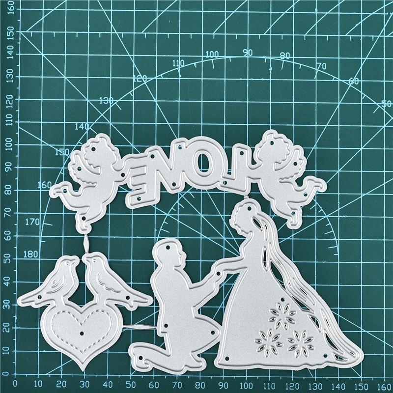 dise/ño de /ángel Plantillas de corte de metal para hacer tarjetas