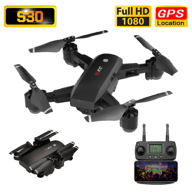 S30 Drone GPS 1080P HD Camera 5G WIFI FPV Surround Flight Foldable Selfie Drones Professional 500m Long Distance RC Quadcopter