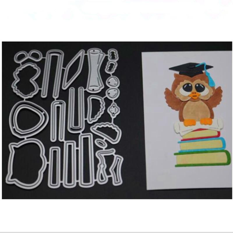 YINISE Metal Cutting Dies For Scrapbooking Stencils Doctor Owl DIY Paper Album Cards Making Embossing Folders Die Cuts CUT Mold