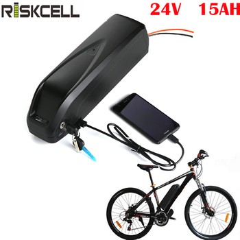Ebike batería de 24v 15ah de litio de bicicletas eléctricas con batería 24v 300w hailong Paquete de batería fiets accu 24v batería patinete