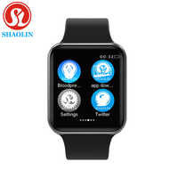 Reloj inteligente Bluetooth 1:1 SmartWatch funda para Apple iOS iPhone Xiaomi Android Smart Phone (botón rojo)