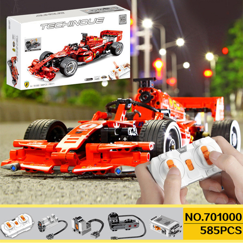 Blocks With 5292 Motor Compatible RC Race Buggy Technic Voiture Building Bricks Educational Toy Boy Birthday Gift image