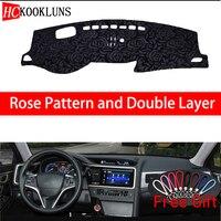 Rose Pattern For Honda spirior 2015 2016 2017 Dashboard Cover Car Stickers Car Decoration Car Accessories Interior Car Decals