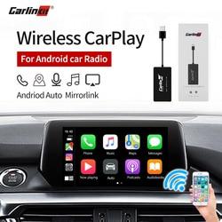 Carlinkit Draadloze Smart Link Apple Carplay Dongle Voor Android Navigatie Speler Mini Usb Carplay Stok Met Android Auto Zwart