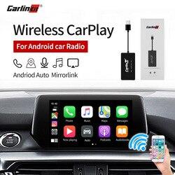 Carlinkit Wireless Smart Link Apple CarPlay Dongle für Android Navigation Player Mini USB Carplay Stick mit Android Auto Schwarz