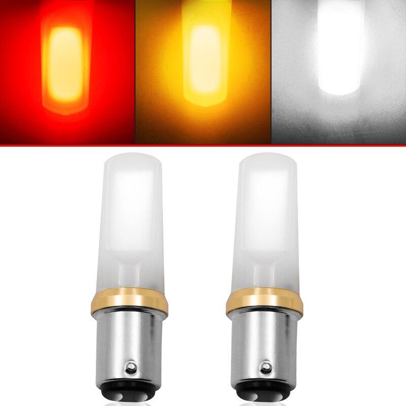 2 peça luz do logotipo do carro super brilhante cunha turn signal t10 ba15s p21/5 w 1157 led lâmpada cob led escudo luz de freio