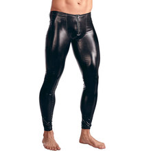 Skinny Pants Legging Faux-Leather Open-Shiny Dance-Pencil-Pants Gay-Wear Plus-Size Zipper