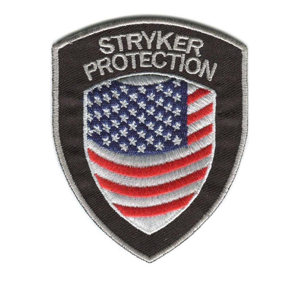 Professional Custom Security Patches Embroidery Patches For Clothing Hook Backing Shield Patch