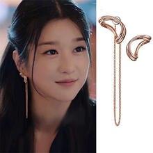 Женские длинные серьги капельки простые металлические кольца