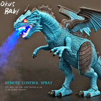 Brand New Electric Interactive Spray Dinosaurs Toys Talking Walking Fire Dragon Boy Kids Toy Christmas Gift Fine Electronic Pets