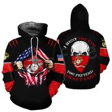 Tessffel America Marine Camo Skull Soldier Army Tracksuit NewFashion Pullover 3DPrint Unisex Zip/Hoodies/Sweatshirts/Jacket A-8