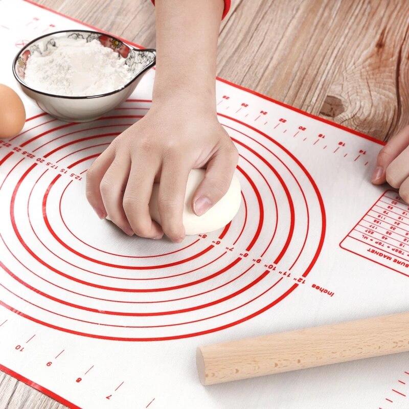 Антипригарный силиконовый коврик для выпечки, коврик для раскатки кондитерских изделий, замешивания теста, коврик для гриля, кухонный инст...