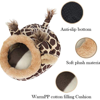 Pet Warm Bed Chinchilla Hedgehog Guinea Pig Bed Accessories Cage Toys Small Animal House Hamster Supplies Habitat Ferret Rat Nes 1
