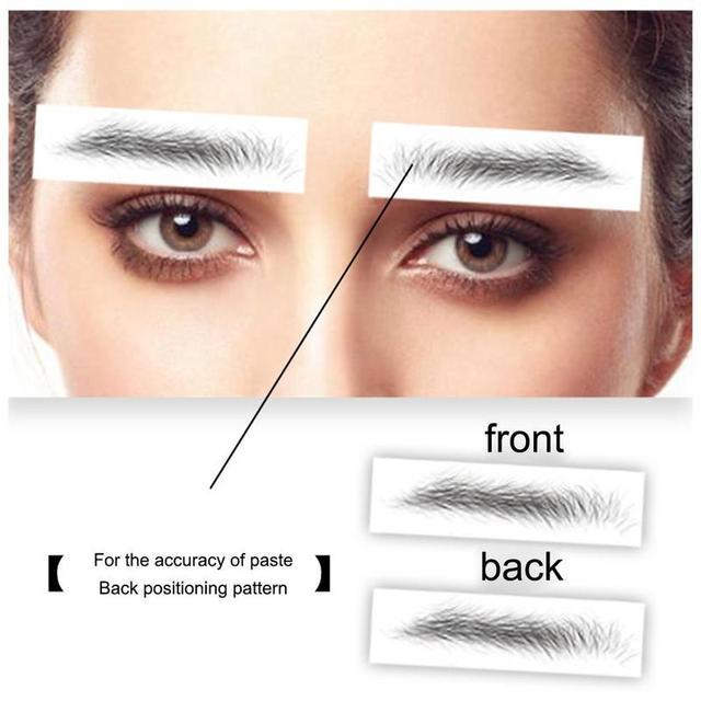 4D Hair-like Eyebrow Tattoo Sticker False Eyebrows Water-based Eye Brow Stickers Eye Brow Patches Cosmetics Eyebrow Pads D,E,F 1