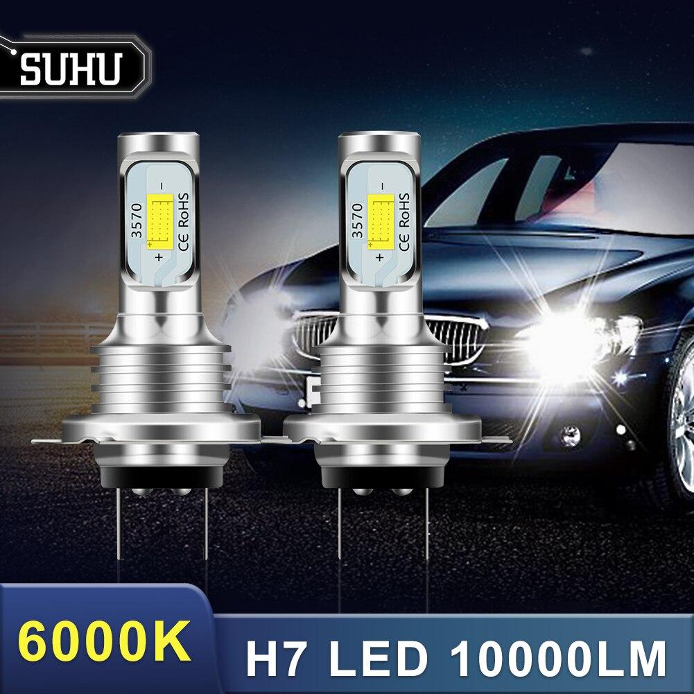 SUHU 2 pièces H7 Kit de phare LED 80W 10000LM Hi ou Lo ampoules de faisceau 6000K blanc IP 68 étanche Canbus phare Led accessoires de voiture |