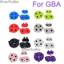 1 conjunto de 8 cores coloridas botões condutores de borracha A B d pad para gameboy advance gba silicone iniciar selecione teclado