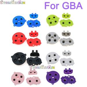 Image 1 - 1 zestaw 8 kolorów kolorowe gumowe przyciski przewodzące A B d pad dla GameBoy Advance GBA Silicone Start wybierz klawiaturę