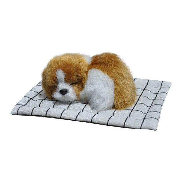 Xmas Gift Cute Plush Dog Soft Animal Toys Doll Mini Simulation Kids Girls lifelike Sleeping Dog as Present for Children Chrismas