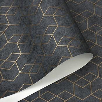 Dark Grey White Black Simple Geometric Wallpaper Roll Modern Design Wall Paper Home Wall Decor Bedroom Living Room Background
