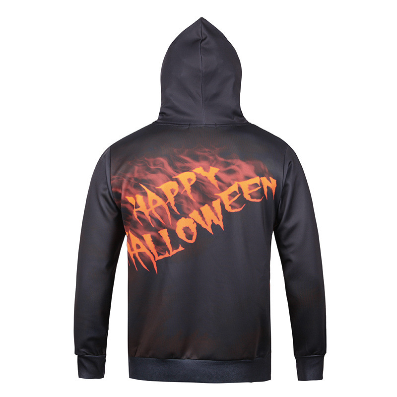 Autumn And Winter Men New Style 3D Printed Halloween Clown Mask Fashion Boutique Long-sleeved Pullover Hoodie