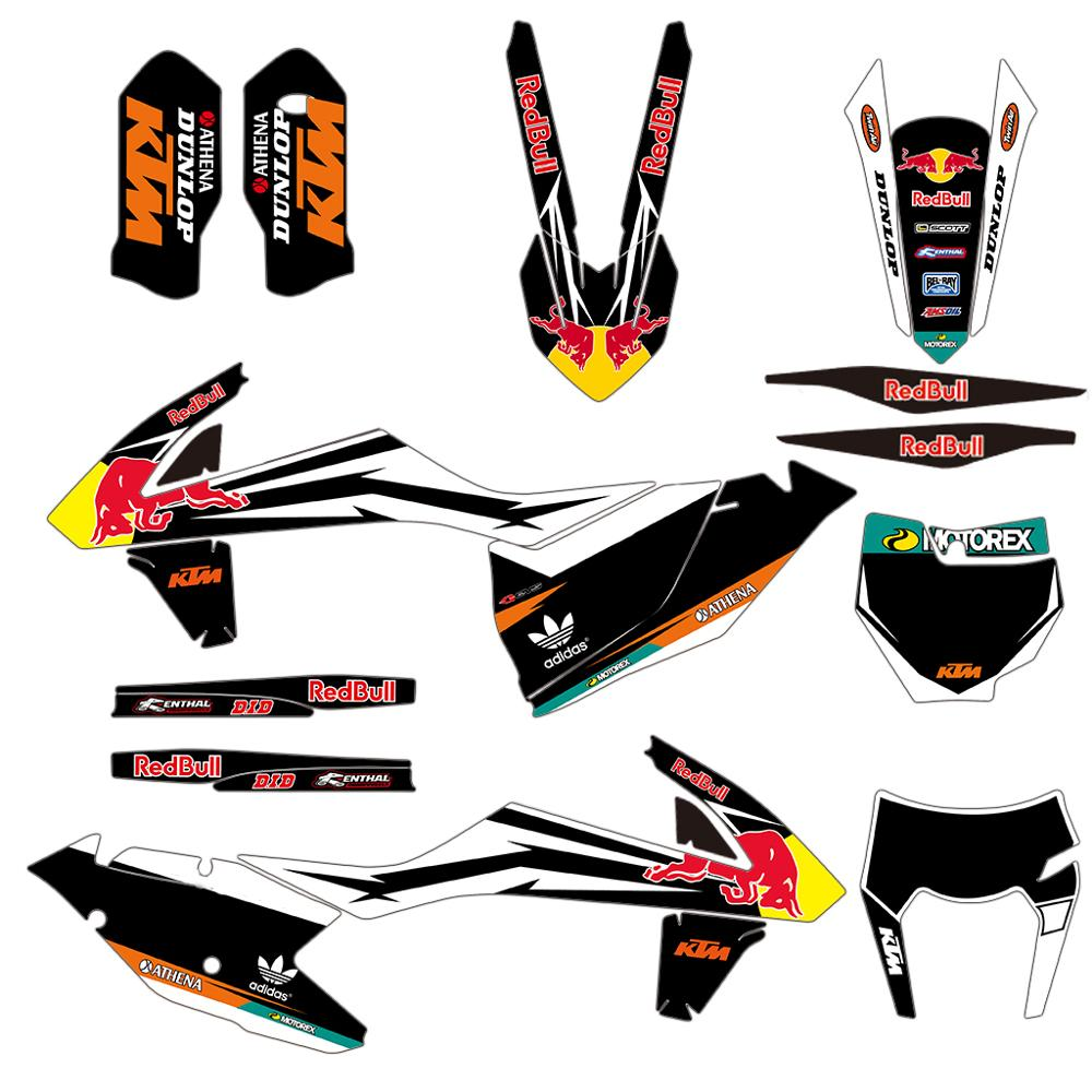 Motorcycle Graphics Decals Stickers DECO Kit For KTM EXC EXCF XCW 2017-2019 SX SXF XC XCF 125 150 250 350 450 2016-2018