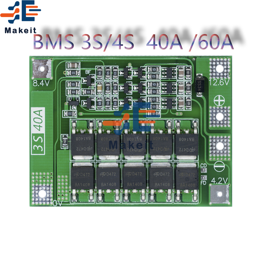 BMS 3S/4S 12V/24V Li-ion batterie chargeur Protection conseil 18650 pour perceuse moteur 11.1V 12.6V/14.8V 16.8V améliorer léquilibre
