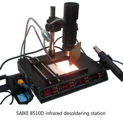 Saike 8510D Multi-Funzione a Infrarossi Aria Calda Smontaggio di Saldatura Piattaforma Universale di Illuminazione Riflettore 5 in 1 Stazione Della Ripresa di Bga