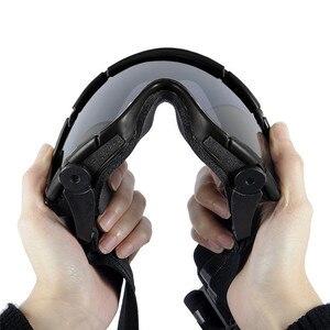 Image 5 - FMA טקטי Si בליסטי נגד ערפל משקפי עם מאוורר נגד אבק חיצוני Airsoft פיינטבול בטיחות משקפיים Eyewear עם 2 עדשה