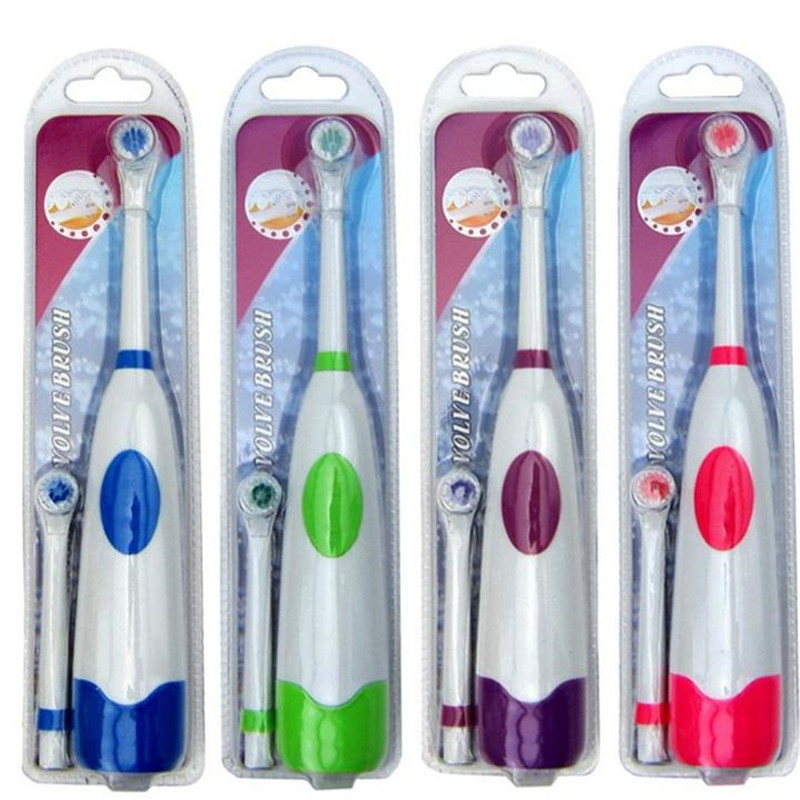 Electric Toothbrush For Children With 2 Toothbrush Heads Battery Operated No Rechargeable Teeth Brush Kids 20#814  image