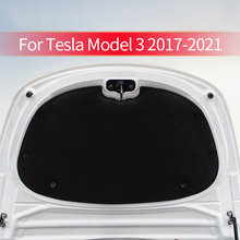 Front Engine Hood Noise Reduction Mat Soundproof Cotton Pad For Tesla Model 3 Deadening Protective Cover Sticker