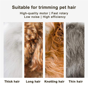 Image 5 - 110 240V Rechargeable Pet Trimmer Professional Electric Animal Hair Clipper Low Noise Dog Cat Hair Removal Shaver Razor No Pain