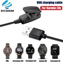 كابل شحن لـ Garmin Lily ، متوافق مع S20 ، شاحن USB للساعة الذكية ، ملحقات كابل التحكم عن بعد HR forerunner 35/235/645