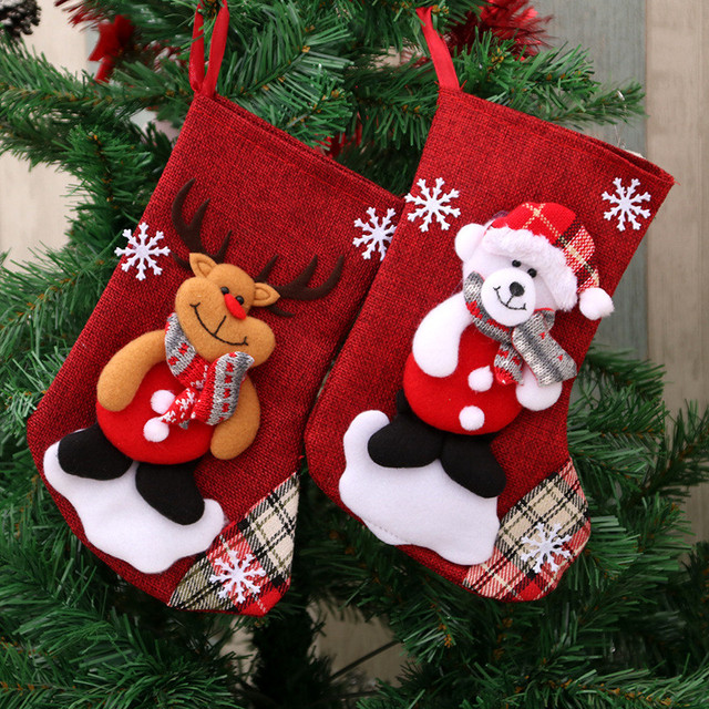 Christmas Ornaments New Year Socks