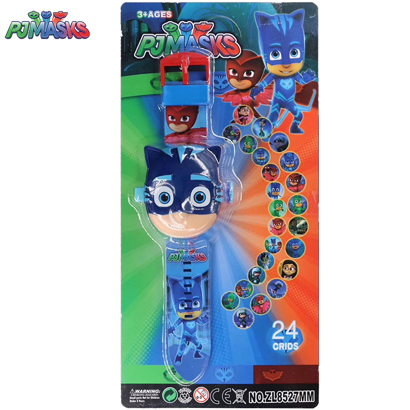 PJ Masks Toys Children 3D Projection Watch 24 Pattern Clock PJ Mask Electronic Watch Kids Toy 3-8 Year Old Gifts Boys Toys