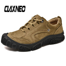Buy CLAXNEO Man Boots Genuine Leather Autumn Male Shoes Walking Footwear Men Ankle Boot Casual Shoe directly from merchant!