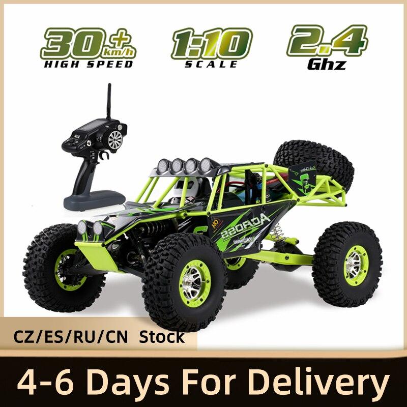 WLtoys 10428 1:10 RC voiture 2.4G 4WD électrique brossé roche chenille RTR SUV télécommande tout-terrain veicoli modèle jouet véhicules