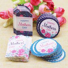 50 pcs tag + 50 cordas retangular feliz dia das mães presentes etiqueta etiqueta de papel branco decoração redonda pendurar etiqueta