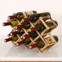 Wine-Rack Wine-Bottle-Holders Decorative-Cabinet Red-Wine-Display Wooden Practical Collapsible