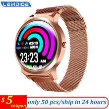 LEMDIOE full touch aluminum women smart watch men 24 hours continue heart rate blood pressure sleep detection smartwatch(China)