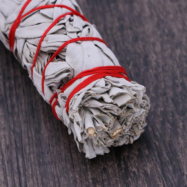 American California White Sage Smudging Wands Sticks Sage Smudge Stick For Cleansing Burning (32g Heavy Small Bundle) 3
