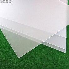 ПВХ матовая доска(толщина 1 мм/полупрозрачная) DIY жесткая пластиковая доска карты из ПВХ и пластика ручной работы пластиковый лист