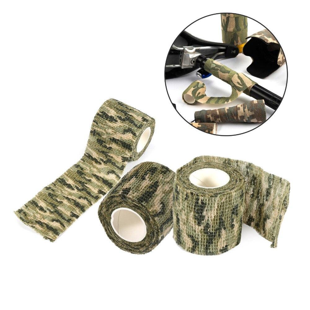 1pcs 5cm x 4.5m Exército Tático Ao Ar Livre Ferramenta de Tiro de Caça Camuflagem Stealth Tape Bandage Envoltório Camo À Prova D' Água envoltório Durável