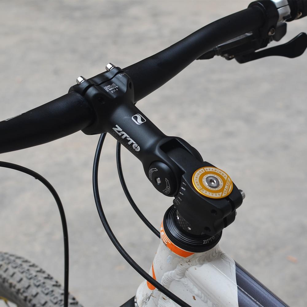 aleaci/ón de alunimio Bicicleta de monta/ña V/ástago de tubo de bicicleta Accesorio de pieza de repuesto para 45 grados Mango ajustable Di/ámetro del manillar 31.8 mm V/ástago de bicicleta de monta/ña
