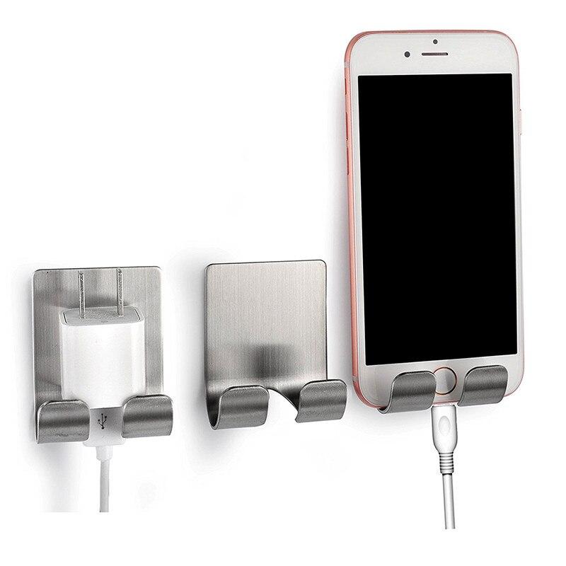 Practical Stainless Steel Adhesive Hook Shaver Bracket Bathroom Kitchen Storage Plugs Storage Wall Door Hanger Sticking Hook
