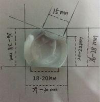 Wholesale For Vivitek D508 D517 D553 D820MS D825ES D830MX Projector lens plastic glass optical lens convex mirror