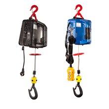 200кг электрический портативный электрический лебедка ручная лебедка тяговая блок веревочки провода электрической стали подъемно-буксировочная лебедка трос 220В/110В